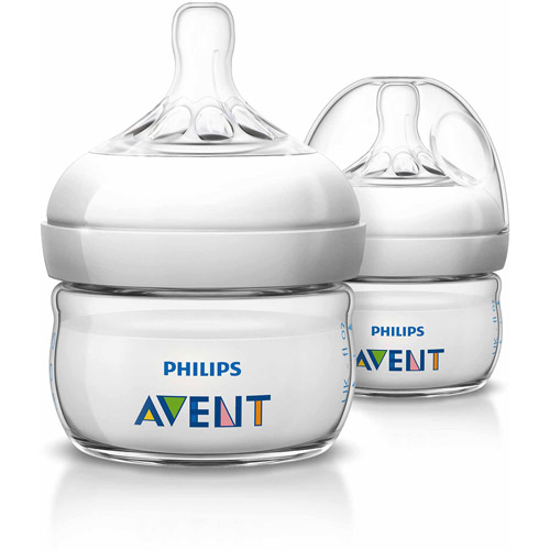 Philips Avent BPA Free Natural Baby Bottles, 2 Ounce, 2 Pack