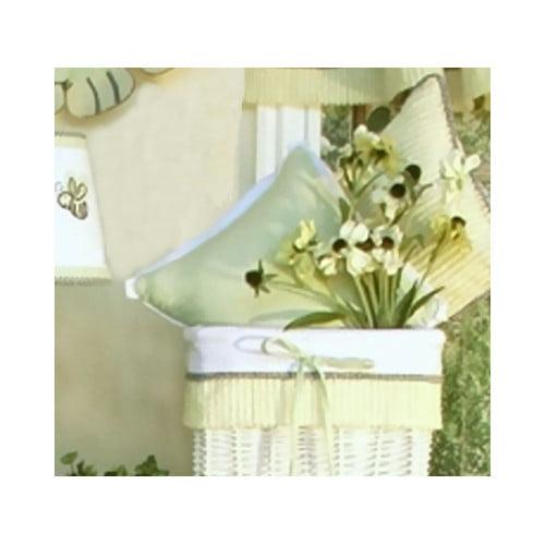Brandee Danielle Flutter Bees Gingham Decorator Throw Pillow