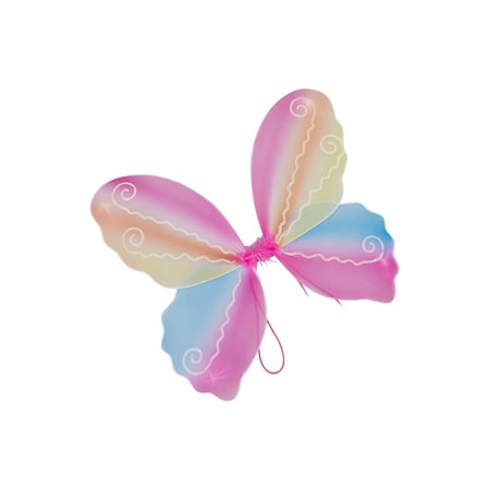 Wenchoice Girls Multi Color Rainbow Butterfly Play Role Stylish Wings - Real Butterfly Wings For Sale