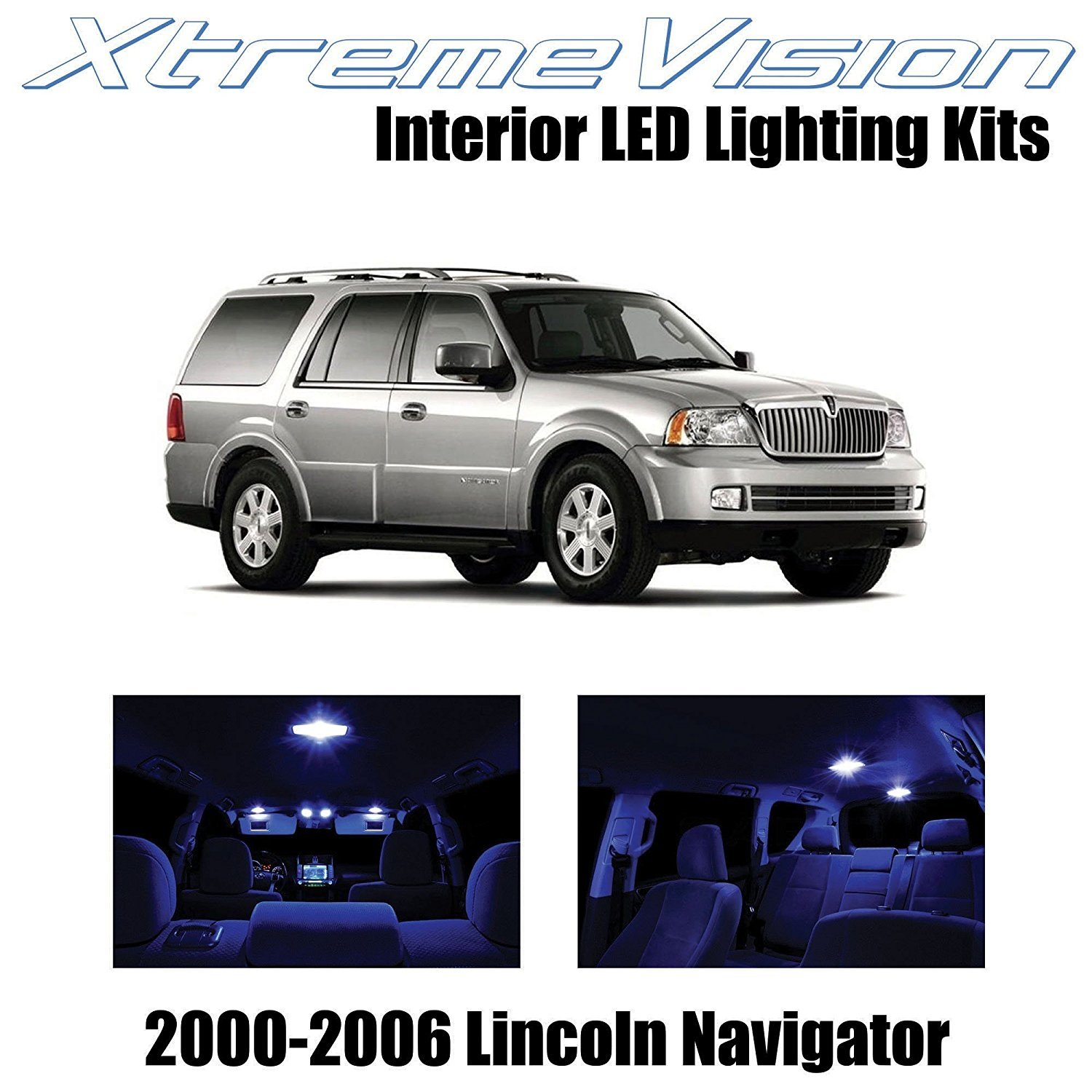 XtremeVision LED for Lincoln Navigator 2000-2006 (6 Pieces) Blue Premium Interior LED Kit Package + Installation Tool