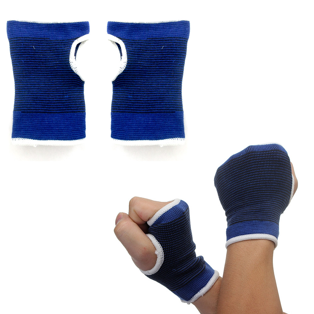 2 Pc Wrist Brace Support Hand Palm Elastic Pain Sprain Relief Sports Thumb Wrap
