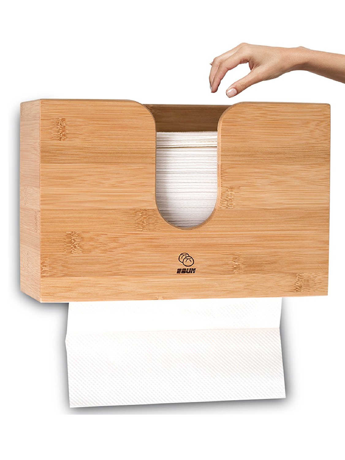 Bamboo Paper Towel Dispenser For Kitchen Amp Bathroom Wall