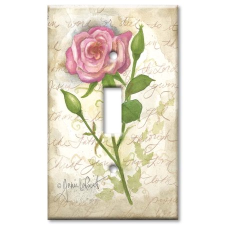 Art Plates brand - Single Gang Toggle Wall Plate - Old Rose