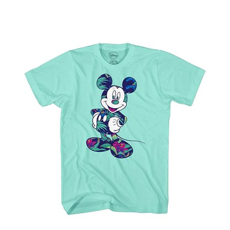 Adidas Mens Green (Disney Mickey Mouse Tropical Mint Green Disneyland World Tee Funny Humor Adult Mens Graphic T-Shirt Apparel )