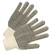 West Chester 813-708SKBSL Pvc Dot String Knit Gloves