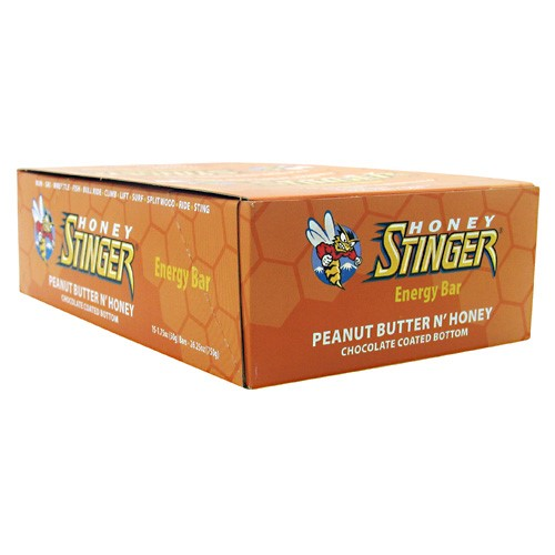 Honey Stinger Energy Bar, Peanut Butter N'Honey, 5g Protein, 15 Ct