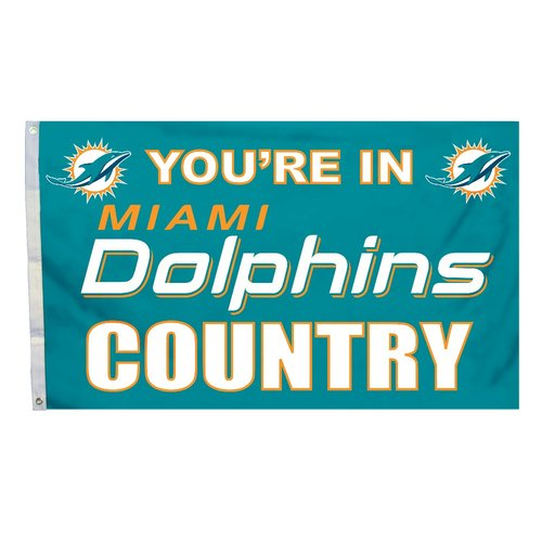 Miami Dolphins Country 3' x 5' Flag