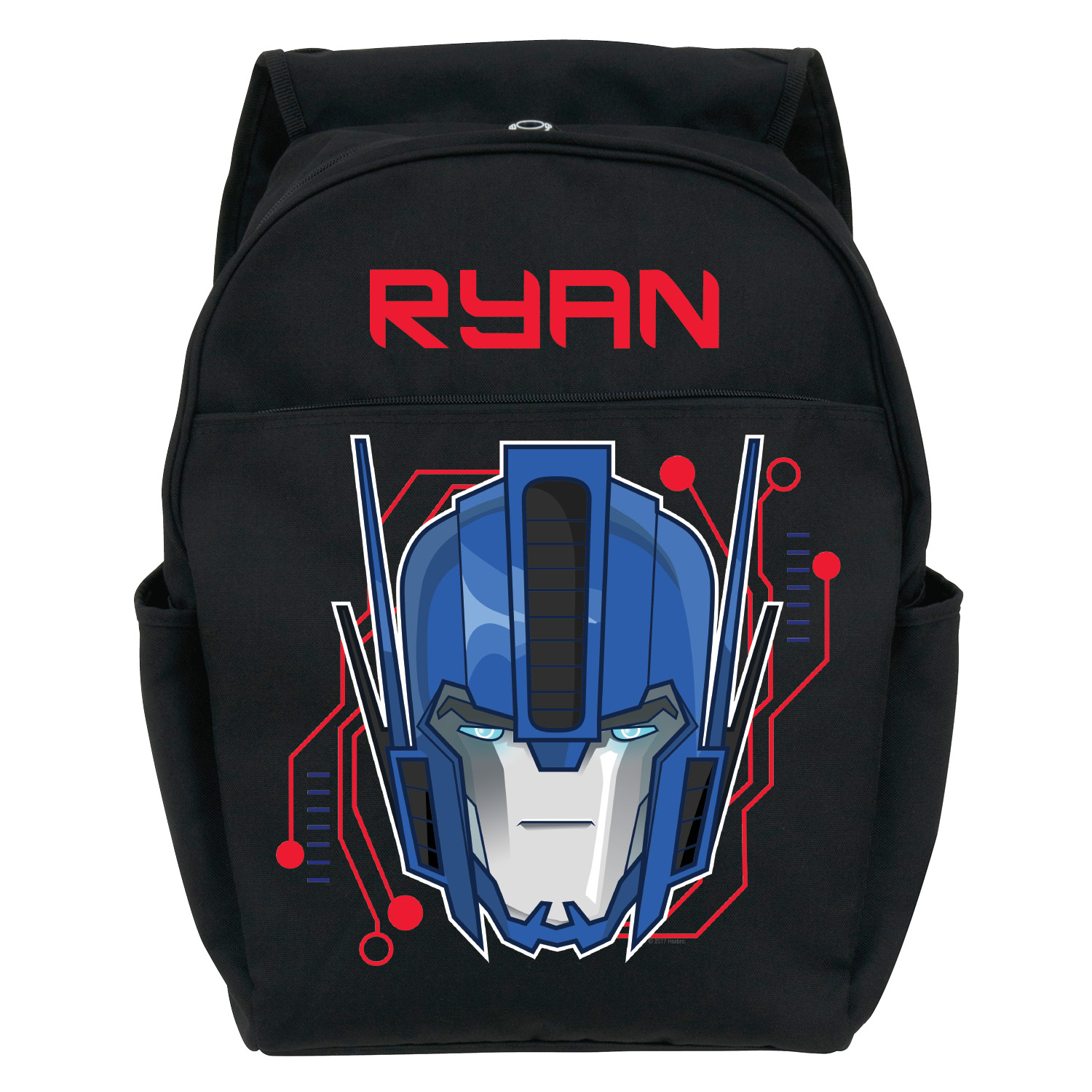 Personalized Toddler Black Backpack - Transformers Robots in Disguise Optimus Prime