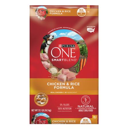 - Purina ONE SmartBlend Natural Chicken & Rice Formula Adult Dry Dog Food - 31.1 lb. Bag