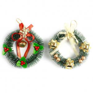 Small Christmas Wreaths.Fancyleo 15cm 4cm 6 1 6 Small Christmas Bowknot Christmas Wreath Door Decoration 2pcs Garland Christmas Wreath Store Window Decoration
