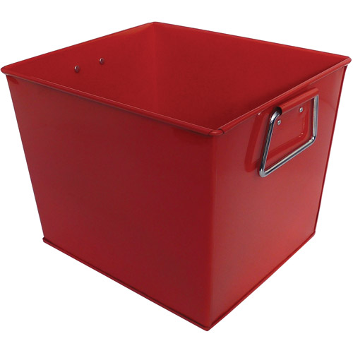 Neu Home Red Square Metal Bucket, Red