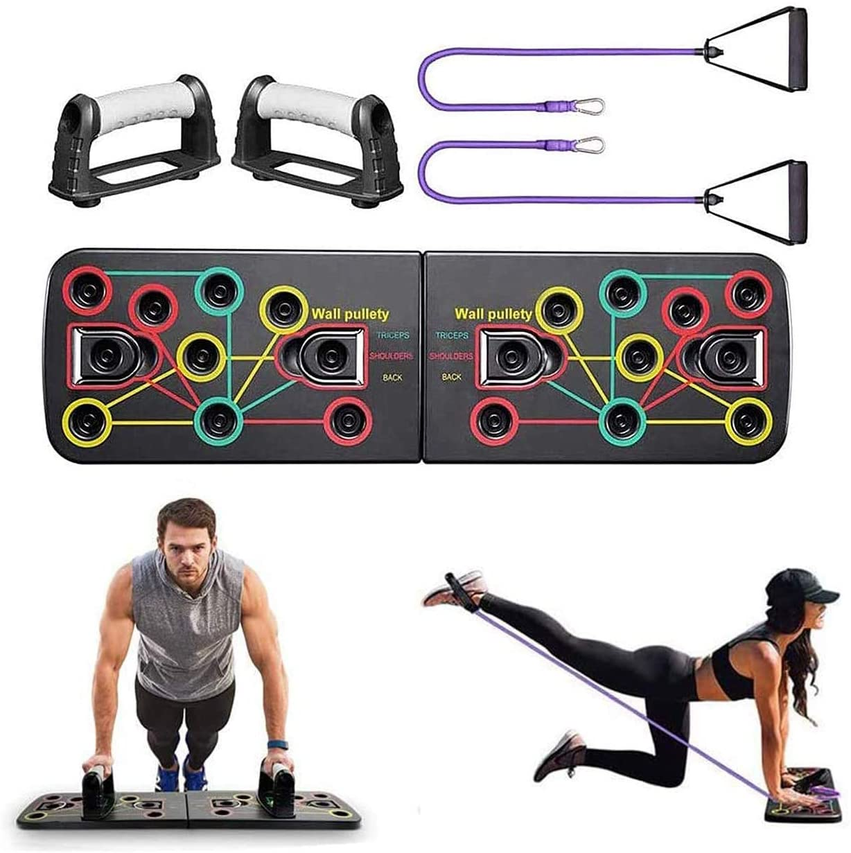 18 in 1 Push-up Board Stand Fitness Workout Gym Chest Muscle Training Exercise