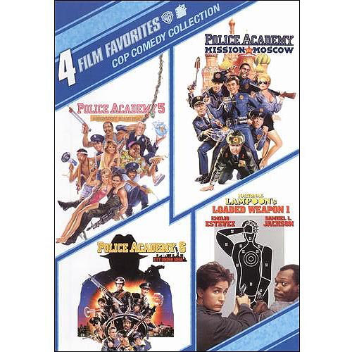 4 Film Favorites: Cop Comedy Police Academy 5: Assignment Miami Beach   Police Academy 6: City Under Siege  ... by