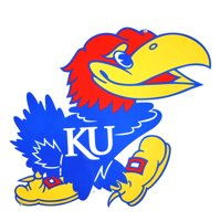 "Kansas Jayhawks 12"" Steel Logo Street Sign - No Size"