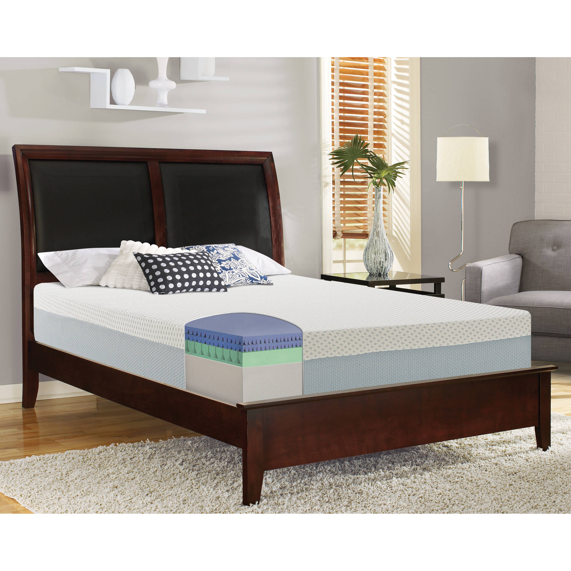 "Contura 2000 12""Medium Plush Engineered Latex Mattress Bed, Multiple sizes by Boyd Flotation"