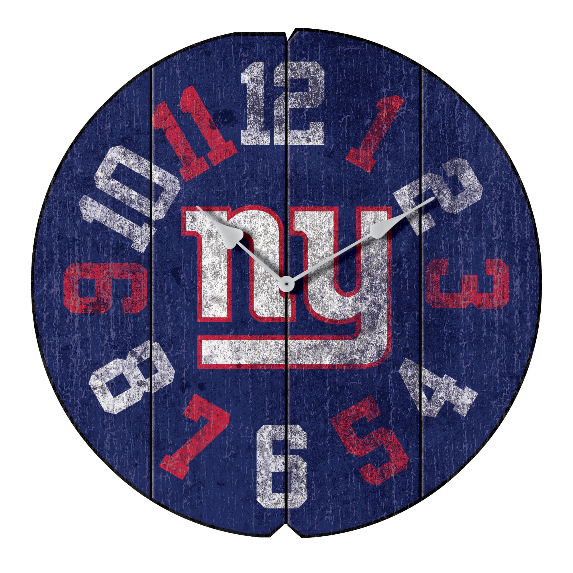 "New York Giants 16"" Vintage Round Wall Clock - Blue - No Size"