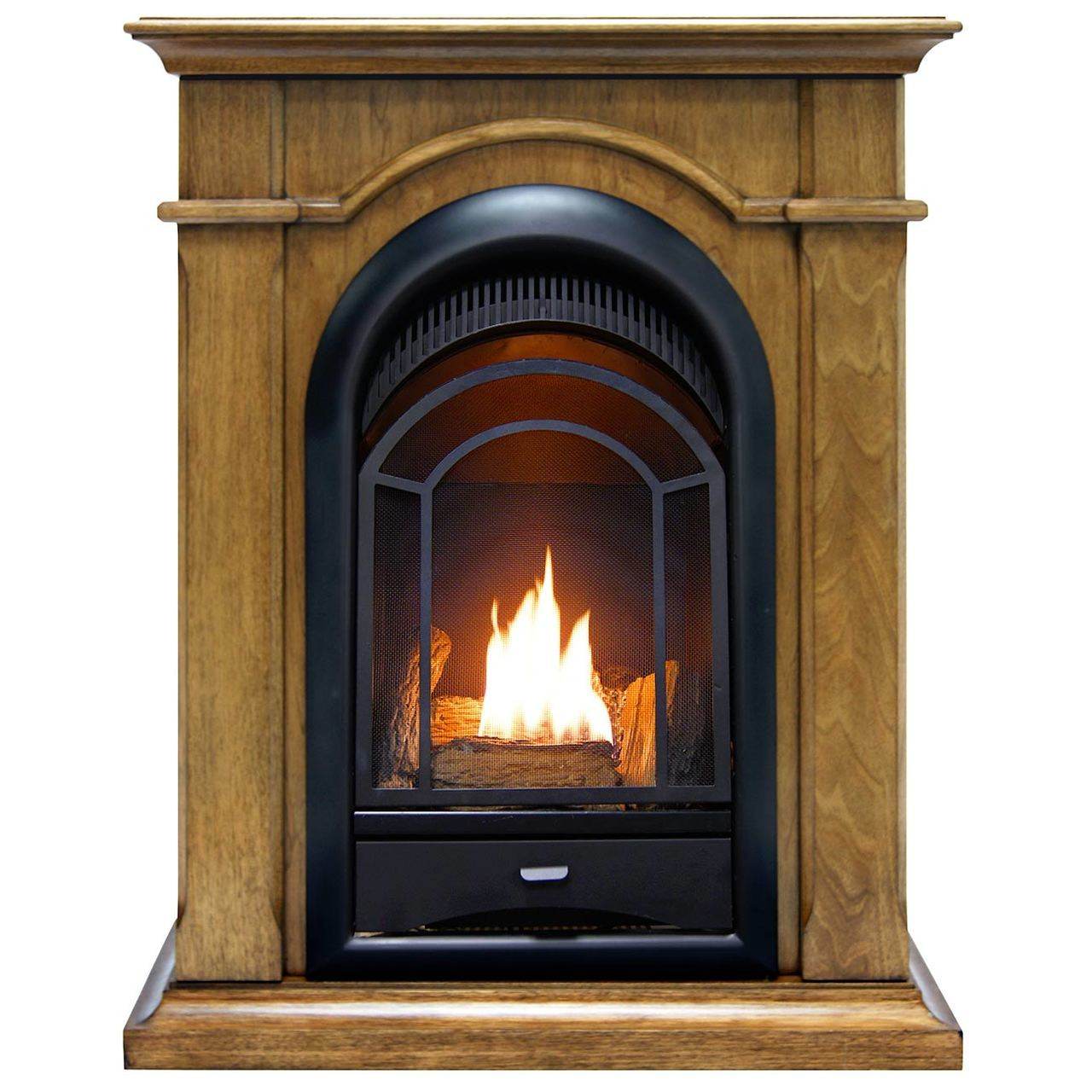ProCom FS100T-TA Ventless Fireplace System 10K BTU Duel Fuel Thermostat Insert and Toasted Almond... by