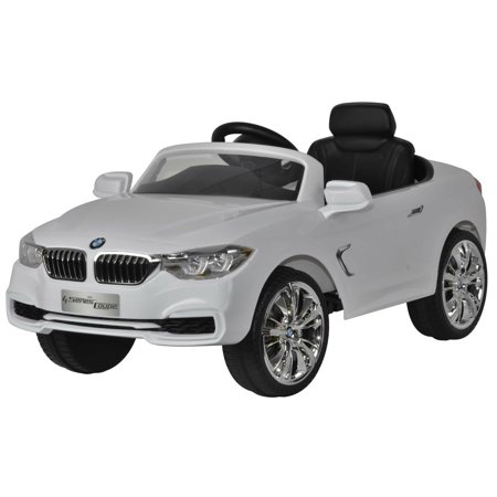 Ride On Car For Kids Bmw 4 Series 12V White With Remote Control  Mp3 Connection  Music And Horn Sounds