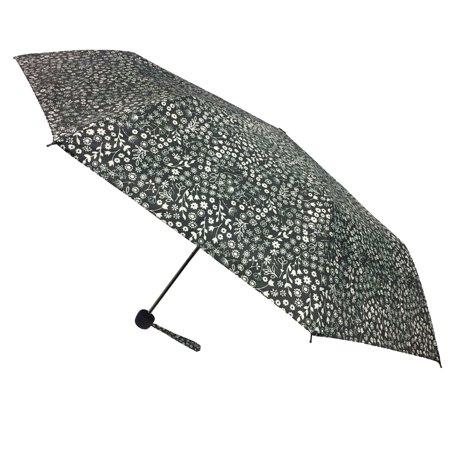 Image of Compact Mini Manual Floral Umbrella