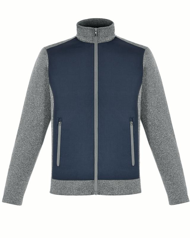 88202 North End Mens Victory Hybrid Perf Fleece Jackets