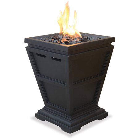 Uniflame Lp Gas Fire Pit Tabletop Column Walmart Com