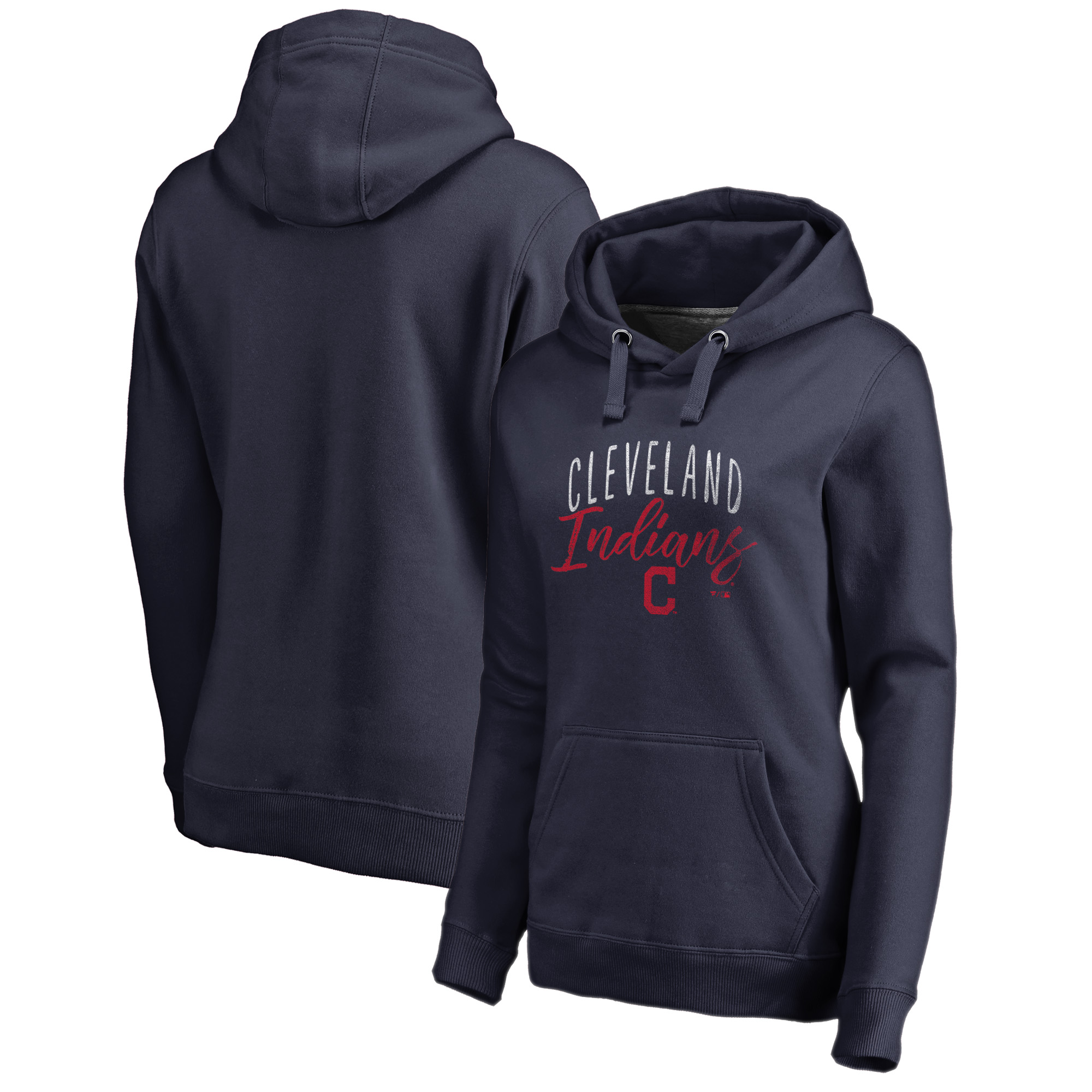 Cleveland Indians Fanatics Branded Women's Graceful Pullover Hoodie - Navy