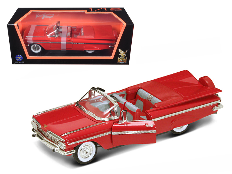 Chevrolet Impala Convertible 1959 rot Modellauto 1:18 Lucky Die Cast