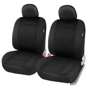 Leader Accessories Elegant Two Front Seat Covers Set for Car Truck SUV with Airbag / 2 Headrest Covers