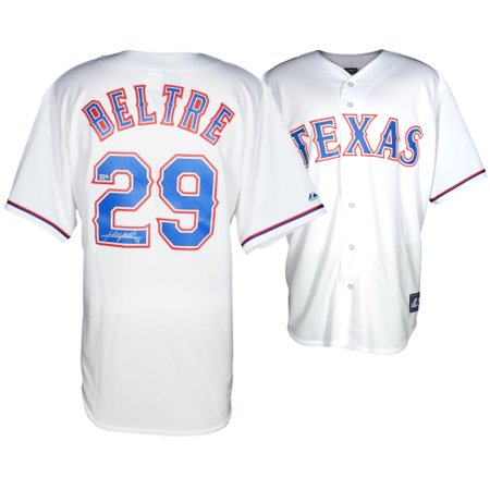 new styles a63dc 01870 Adrian Beltre Texas Rangers Fanatics Authentic Autographed Majestic Replica  White Jersey - No Size