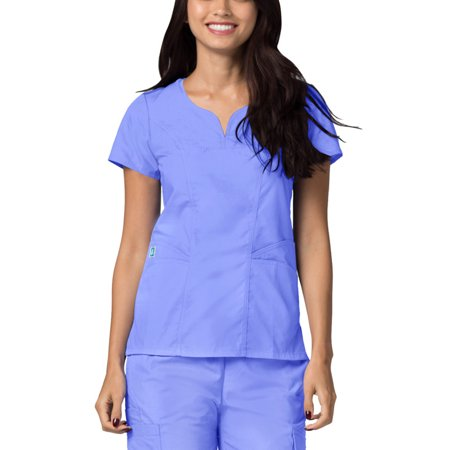 Adar Universal Scrubs For Women - Curved Glamour Scrub Top