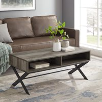 Roanoke Modern X-Leg Coffee Table by Manor Park - Multiple Finishes