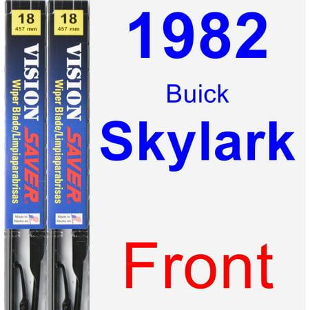 1982 Buick Skylark Brake - 1982 Buick Skylark Wiper Blade Set/Kit (Front) (2 Blades) - Vision Saver