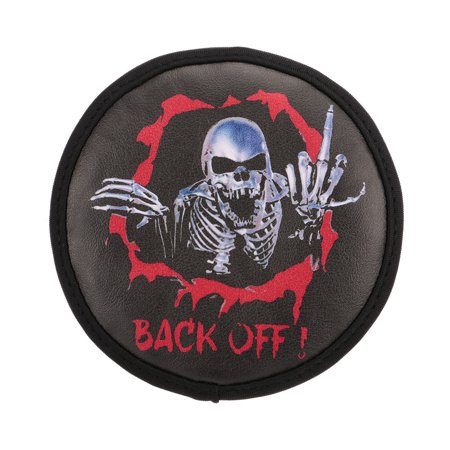 - PU Leather Spare Tire Cover Skeleton Pattern for 1/10 HSP Redcat Traxxas Axial SCX10 RC4WD D90 CC01 RC Car