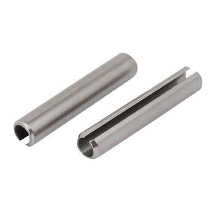 Unique Bargains M6x35mm 304 Stainless Steel Split Spring Dowel Tension Roll Pin 12pcs - image 2 de 3