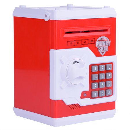 Electronic Password Piggy Banks Cash Coin Can, Mini ATM Saving Bank Cash Coin Can Birthday Gifts Toy Gifts for Kids