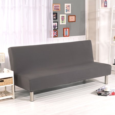 Exquisite Full Cover Slipcover Sofa Cover Tight Wrap Elastic Protector for Sofa Bed without Armrest Supplies gray S Rem Full Arms