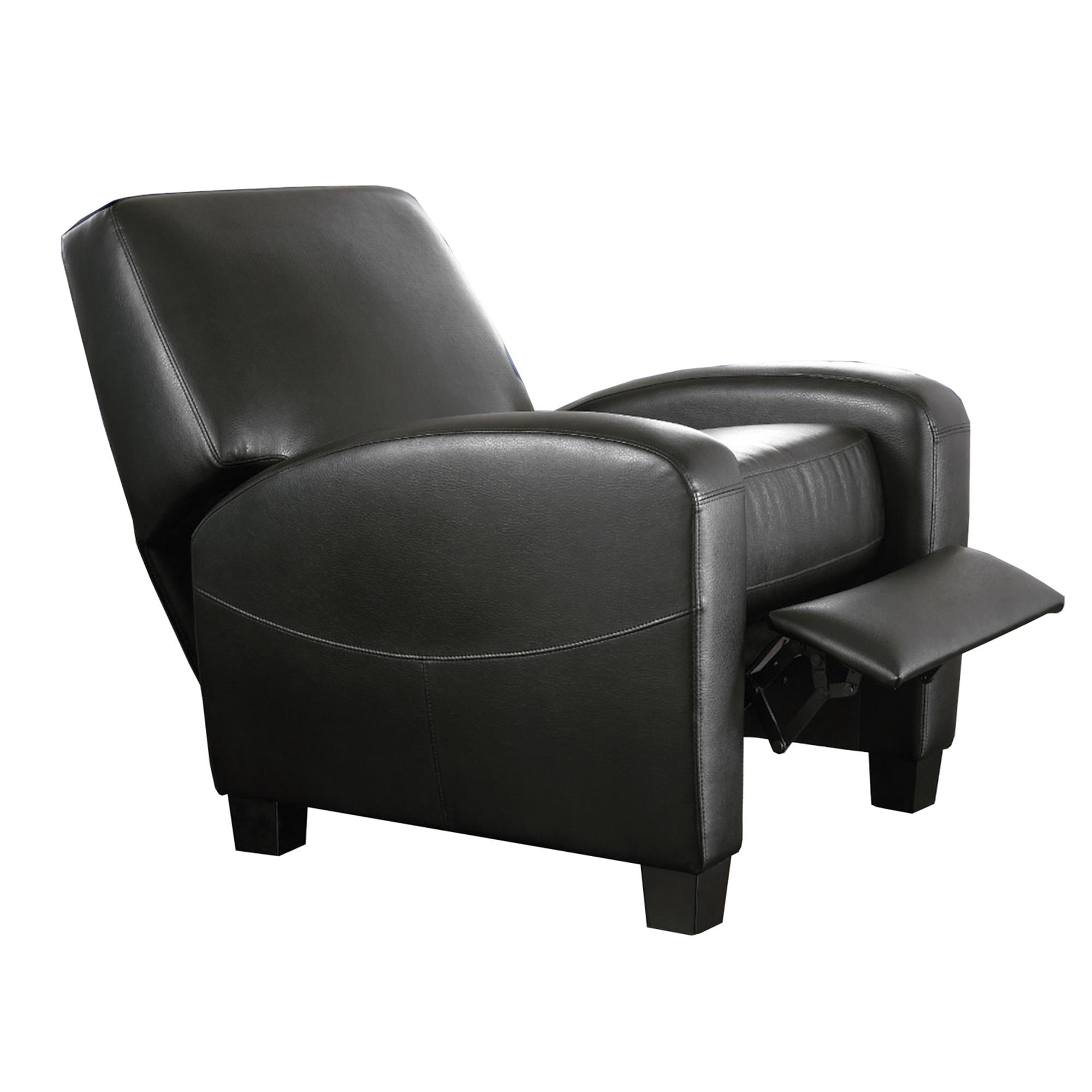 Mainstays Home Theater Recliner, Multiple Colors, (Black)