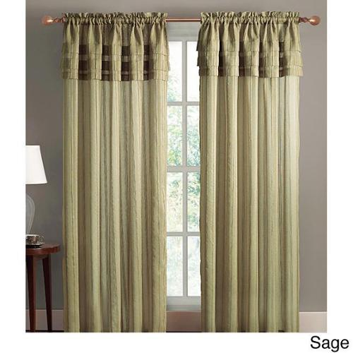 VCNY Meredian Layered 84-inch Curtain Panel Sage