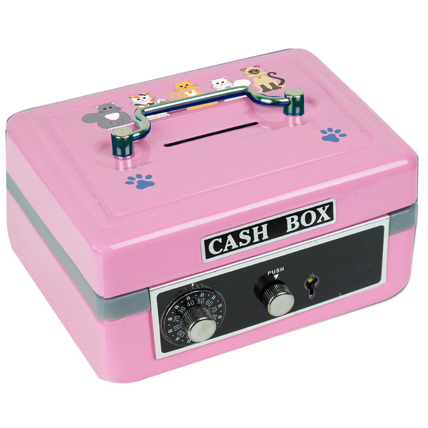 Personalized Blue Cats Cash Box