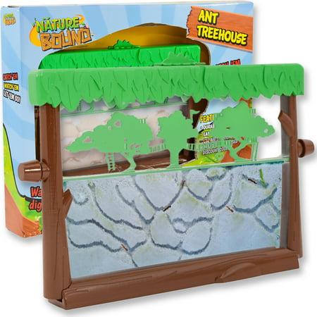 Ant Habitat (Nature Bound Ant Treehouse Habitat Kit with Sand, Connector Tube, Feeding Stick & Insect)