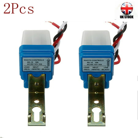 2PCS AC DC 12V 10A Street Light Photoswitch Sensor Motion Sensor Auto On/Off Control Switch