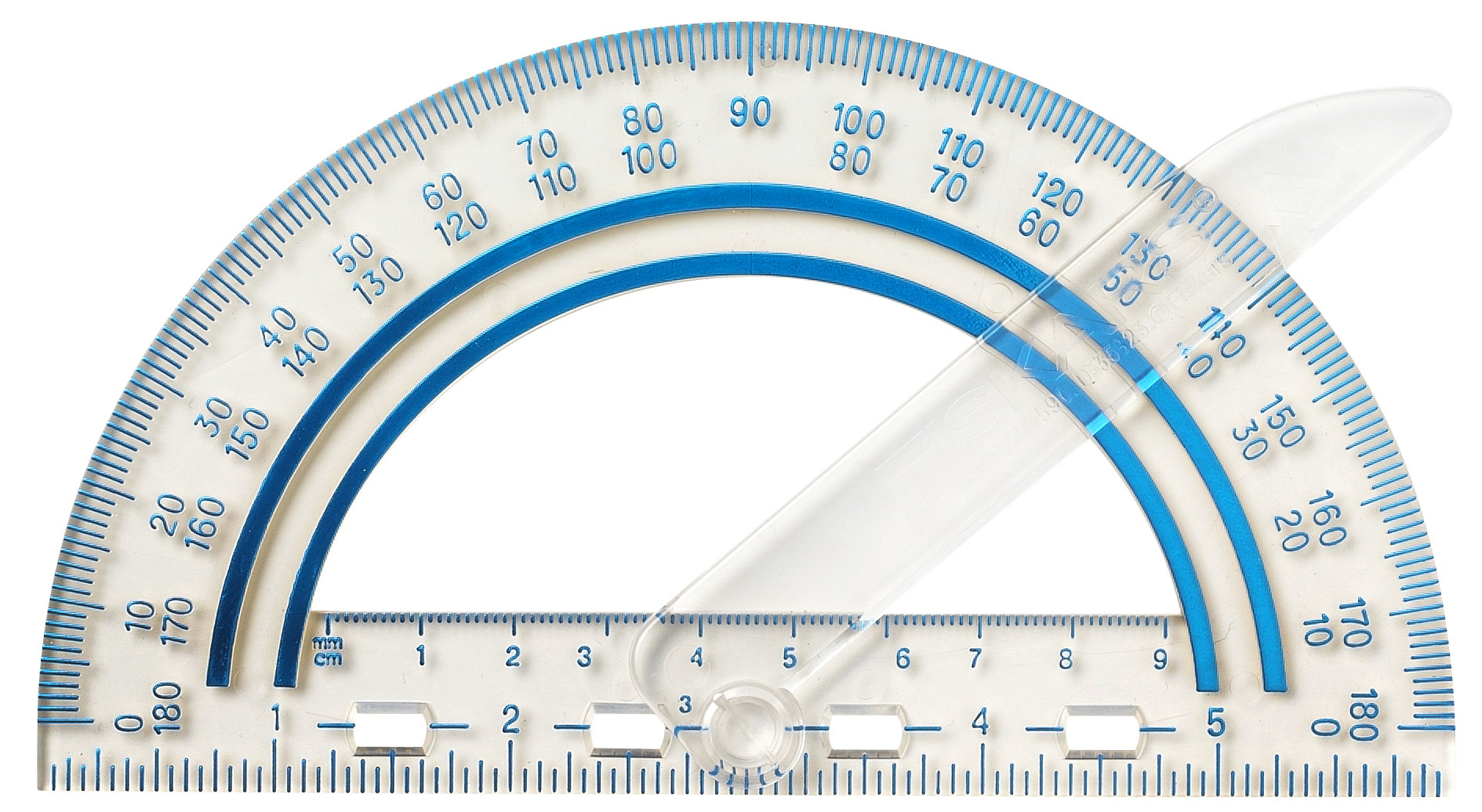 Fiskars 12-95400J Plastic Swing Arm Protractor Color Received May Vary
