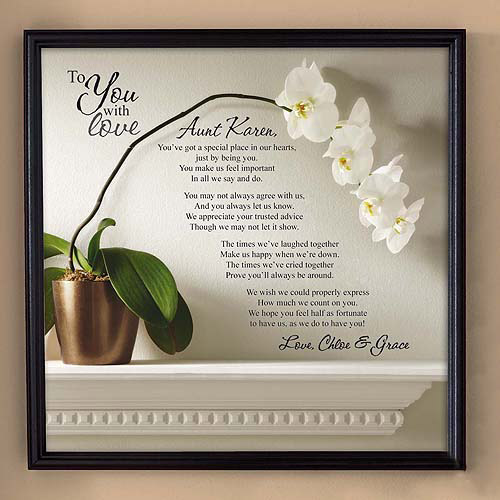 """Personalized """"To Mom with Love"""", Canvas Framed Art, 16"""" x 16"""", Available in 2 Styles"""