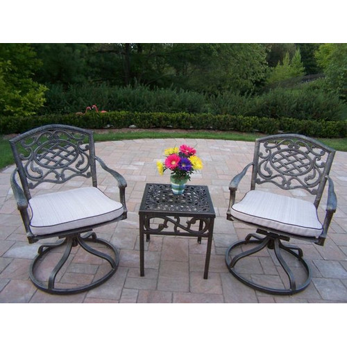 Oakland Living Mississippi 3 Piece Conversation Set with Cushions