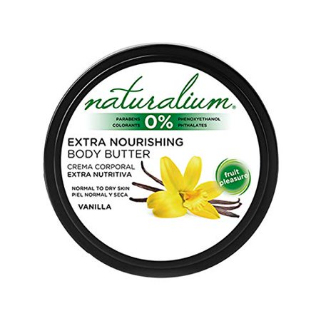 Extra Nourishing Body Butter by Naturalium | Natural Skin Moisturizer | Hydrates Protects and Reaffirms Skin | Non-greasy Formula | Available in 4 Fragrances | 400 ml (Vanilla) - image 1 de 1