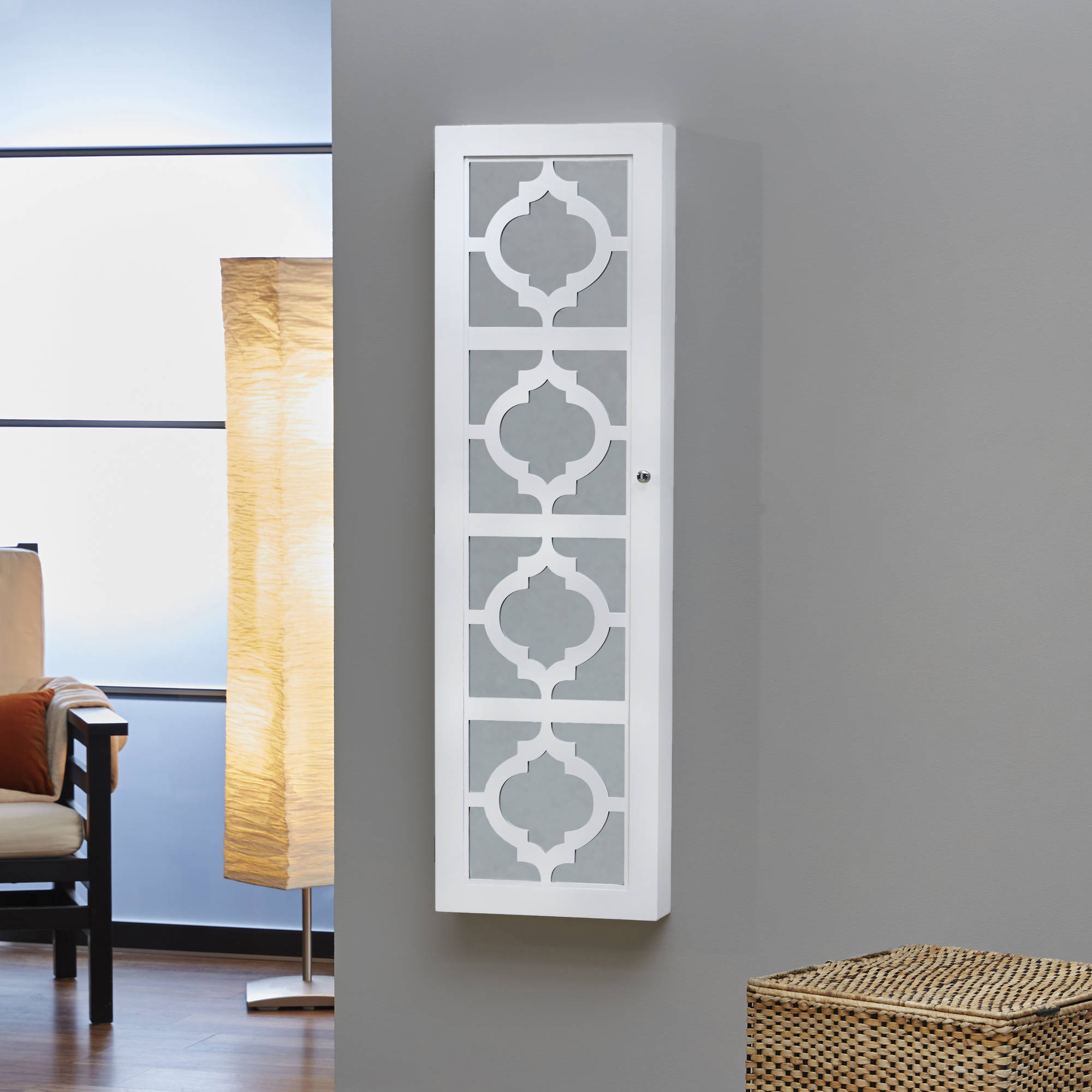 InnerSpace Designer Jewelry Armoire with Decorative Front, Multiple Colors