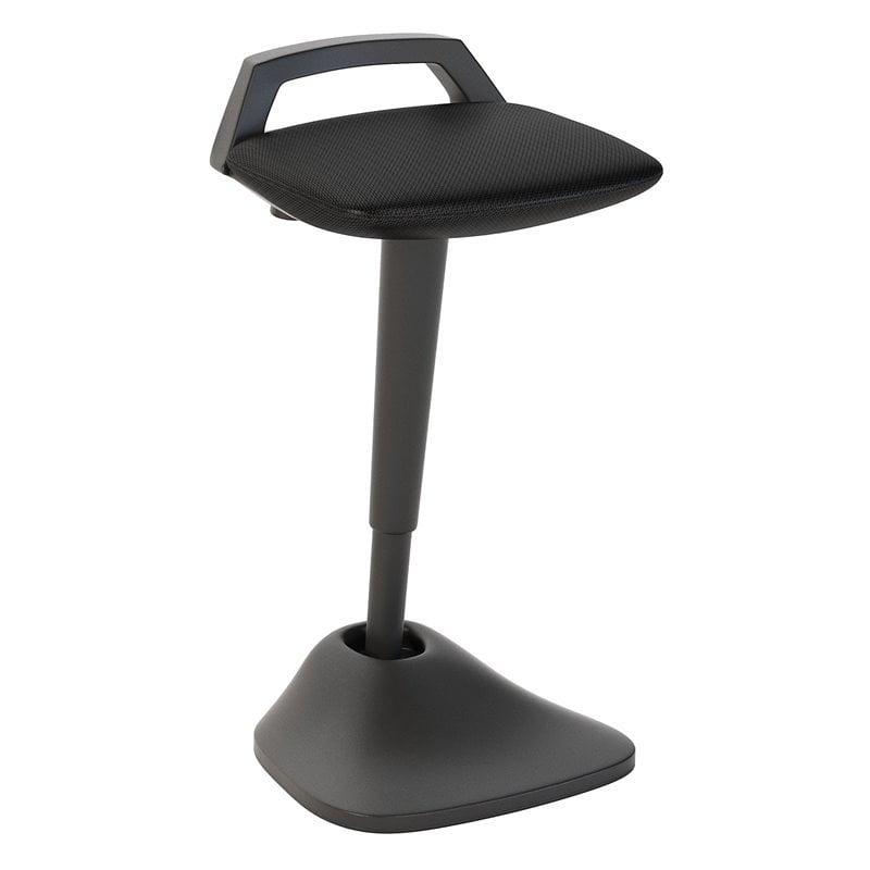 Bush Business Furniture Thrive Adjustable Standing Desk Stool in Black Mesh