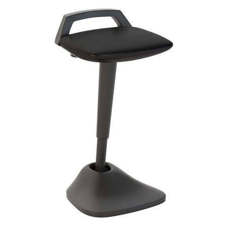Bush Business Furniture Thrive Adjustable Standing Desk Stool in Black Mesh
