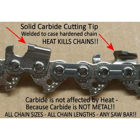 """Solid Carbide Chainsaw H78 Fits Echo CS-490-20, CS-501P-20 -w/20"""""""" Bar -  Pacific American Carbide"""