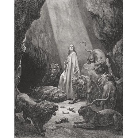 Engraving From The Dore Bible Illustrating Daniel Vi 16 And 17
